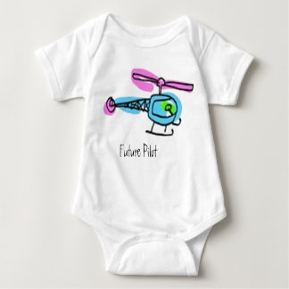 kid helicopter, Future Pilot Baby Bodysuit