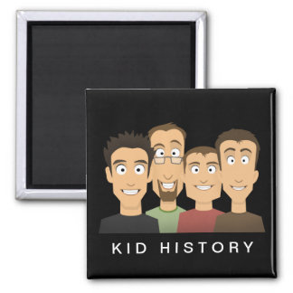 Kid History 2 Inch Square Magnet