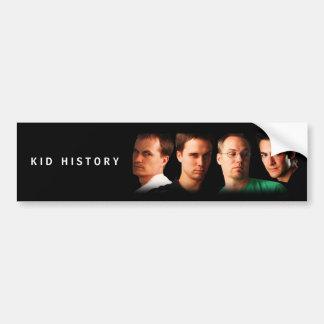 Kid History Cast Car Bumper Sticker