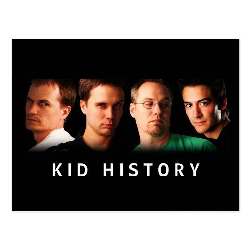 Kid History Cast Postcard