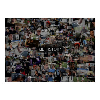 Kid History Collage Print