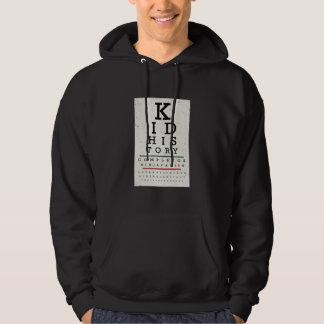 """Kid History"" Eye Chart Hooded Sweatshirts"