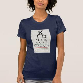 """Kid History"" Eye Chart T-shirts"