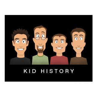Kid History Postcard