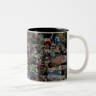 """Kid History"" Quote Collage Two-Tone Coffee Mug"