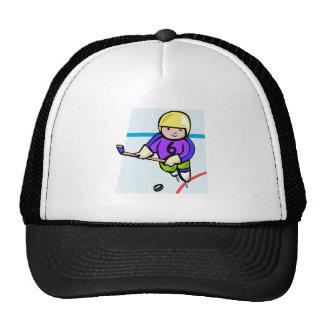 Kid Hockey Player Trucker Hat