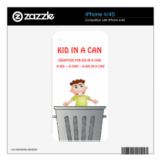 Kid In A Can iPhone Skin (Commercial As Seen On '' Decal For iPhone 4