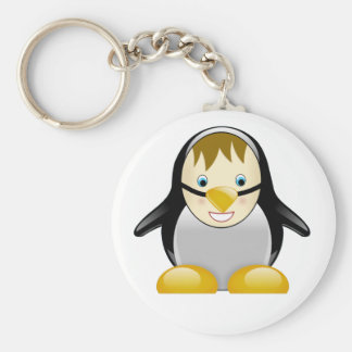 Kid in a Penguin Suit Cute Cartoon Keychain