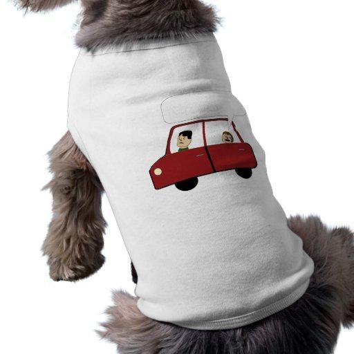 Kid in Car Cartoon Pet T-shirt
