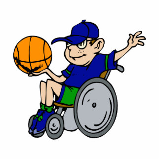 kid in chair playing basketball photo sculpture