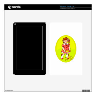 kid in red dress feeding chicks yellow oval.png skins for kindle fire