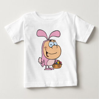 Kid In The Bunny Suit Holding A Basket Of Eggs Baby T-Shirt