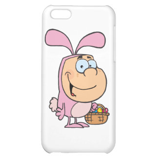 Kid In The Bunny Suit Holding A Basket Of Eggs iPhone 5C Covers