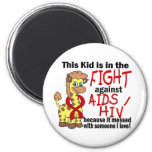 Kid In The Fight Against AIDS Magnet