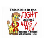 Kid In The Fight Against AIDS Post Cards