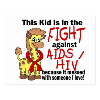 Kid In The Fight Against AIDS Postcard