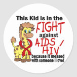 Kid In The Fight Against AIDS Stickers