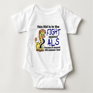 Kid In The Fight Against ALS Baby Bodysuit