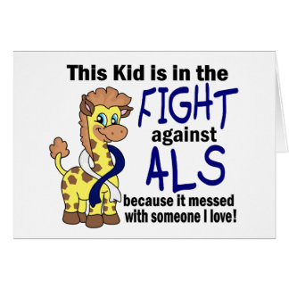 Kid In The Fight Against ALS Greeting Card