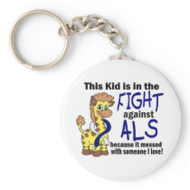 Kid In The Fight Against ALS Keychain