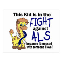 Kid In The Fight Against ALS Postcard
