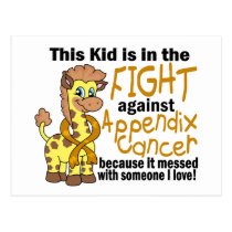 Kid In The Fight Against Appendix Cancer Postcard