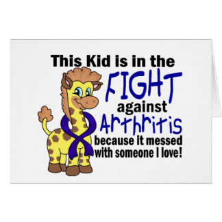 Kid In The Fight Against Arthritis Greeting Card