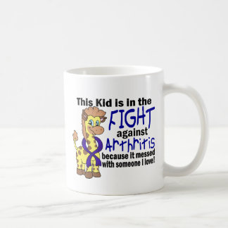 Kid In The Fight Against Arthritis Classic White Coffee Mug