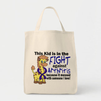Kid In The Fight Against Arthritis Grocery Tote Bag