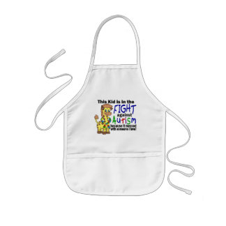 Kid In The Fight Against Autism Aprons