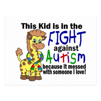 Kid In The Fight Against Autism Postcard