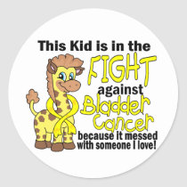 Kid In The Fight Against Bladder Cancer Classic Round Sticker