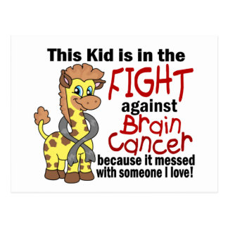 Kid In The Fight Against Brain Cancer Postcard