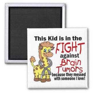 Kid In The Fight Against Brain Tumors Fridge Magnet