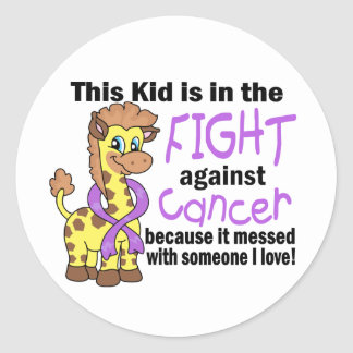 Kid In The Fight Against Cancer Classic Round Sticker