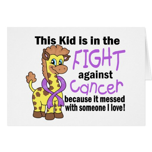 Kid In The Fight Against Cancer Greeting Card