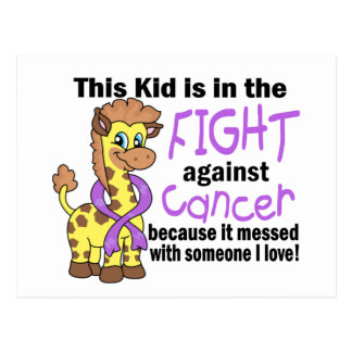 Kid In The Fight Against Cancer Postcard