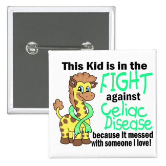 Kid In The Fight Against Celiac Disease Pinback Button