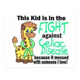 Kid In The Fight Against Celiac Disease Postcard