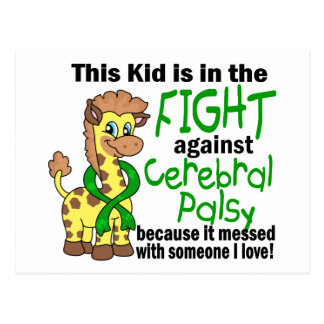 Kid In The Fight Against Cerebral Palsy Postcard