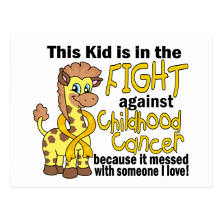 Kid In The Fight Against Childhood Cancer Postcard