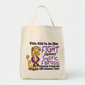 Kid In The Fight Against Cystic Fibrosis Tote Bag