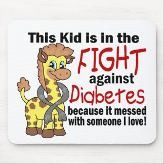 Kid In The Fight Against Diabetes Mouse Pad