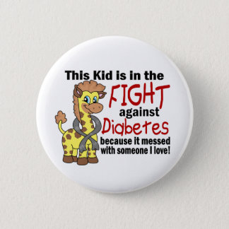 Kid In The Fight Against Diabetes Pinback Button
