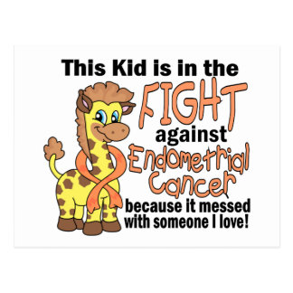 Kid In The Fight Against Endometrial Cancer Postcard