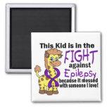 Kid In The Fight Against Epilepsy Fridge Magnet