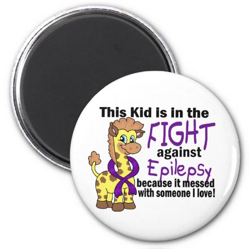 Kid In The Fight Against Epilepsy Refrigerator Magnet