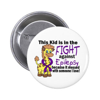 Kid In The Fight Against Epilepsy Pinback Button