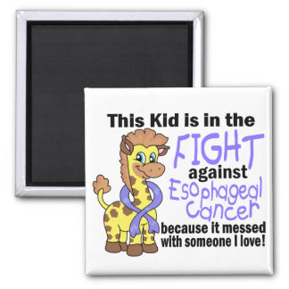 Kid In The Fight Against Esophageal Cancer 2 Inch Square Magnet