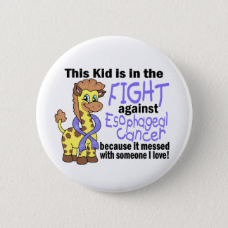 Kid In The Fight Against Esophageal Cancer Pinback Button